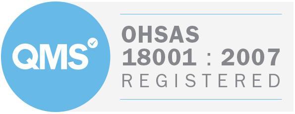 Ohsas 18001 2007 badge white